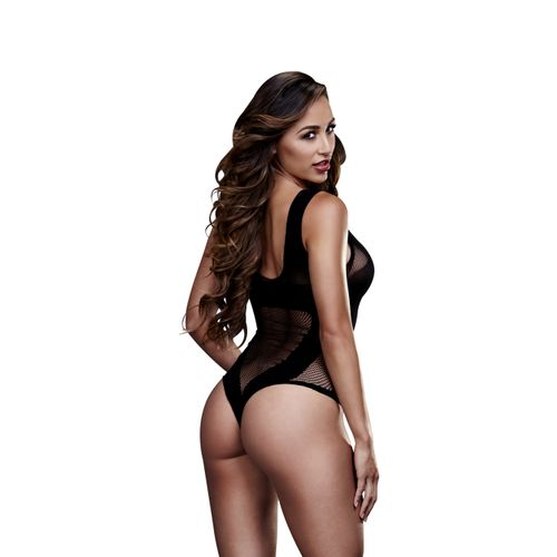 Baci - Transparante Visnet Body - Zwart