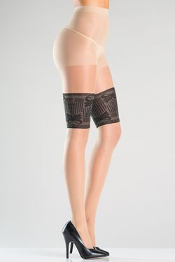 Panty Met Kousenband Print