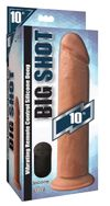 XL Realistischer, vibrierender Dildo mit Saugnapf - Hautfarben