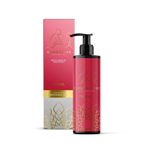 BodyGliss - Massage Olie En Glijmiddel in 1 Rozenblaadjes -150 ml