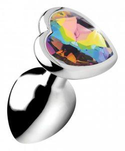 Rainbow Heart Buttplug - Klein