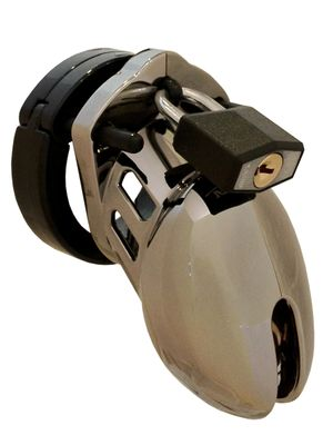 CB-6000S Keuschheitskäfig - Chrom - 35 mm