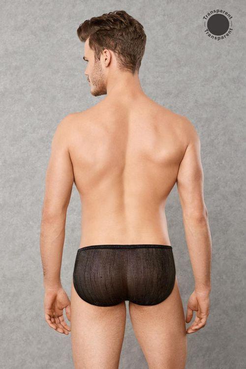 Transparente Männerunterwäsche - Schwarz