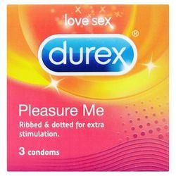 Durex - Pleasure Me condooms met ribbels en noppen - 3 stuks