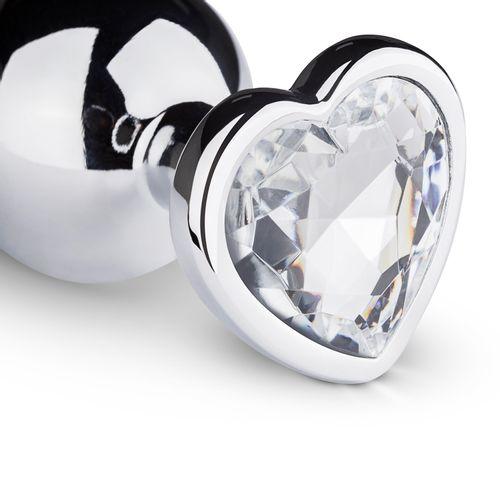 Butt Plug aus Metall mit Herz - Silberfarben