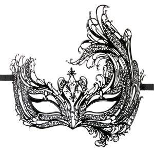 Prachtig zwart oogmasker