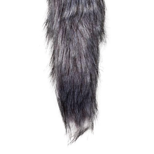 Silberfarbener Fuchsschwanz-Analplug