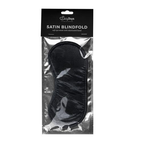 Schwarze Augenmaske aus Satin