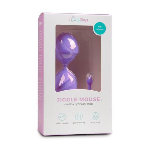 Violette Doppel-Vaginalkugeln