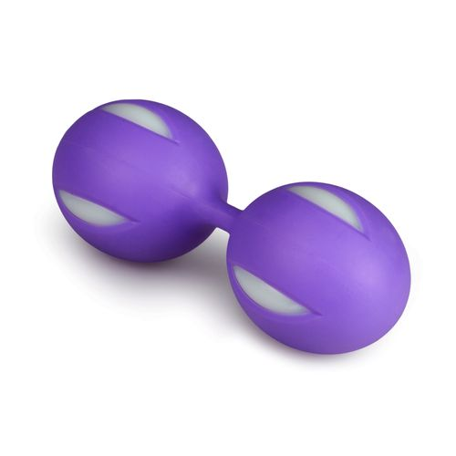 Wiggle Duo Kegel Ball - lila/weiß