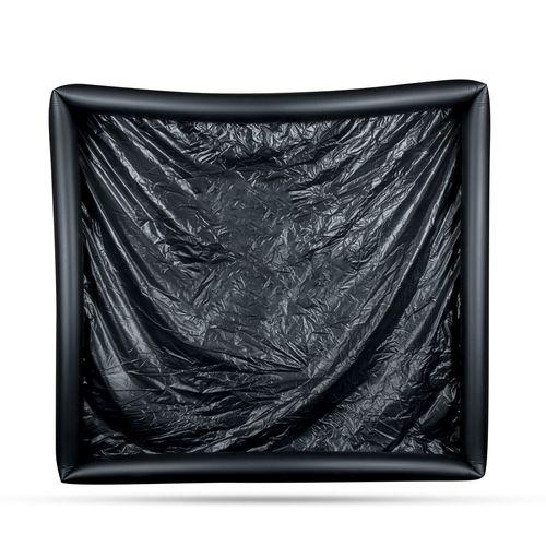 Vinylfolie mit aufblasbaren Kanten - Schwarz