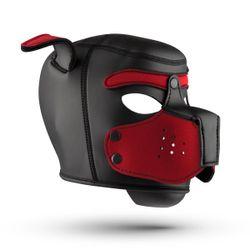 Hondenmasker - Zwart/Rood
