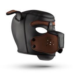 Hondenmasker - Zwart/Bruin