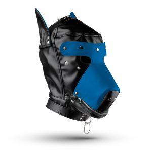 Hundemaske - Schwarz/Blau