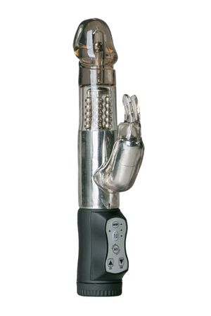Rabbit Vibrator in Schwarz