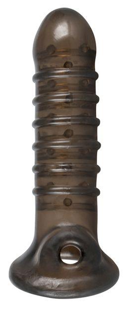 Penis Sleeve Met Ribbels - Zwart