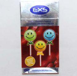EXS Aardbei Lolly Pop Condooms 3 stuks