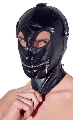 Lederimitat-Kopfmaske