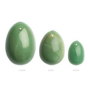 La Gemmes - 3-teiliges Yoni-Eierset - Jade