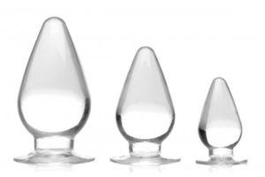 Triple Cones 3-teiliges Analplug-Set - Durchsichtig