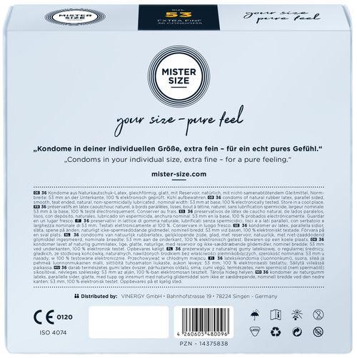 MISTER.SIZE 53 mm Kondome 36 Stück