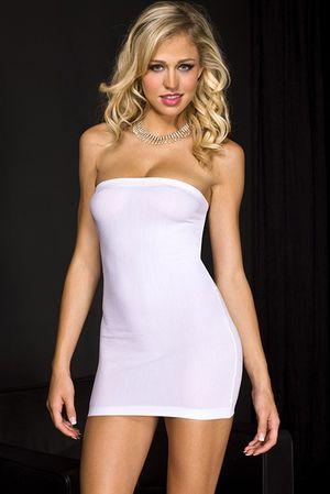 Strapless wit jurkje