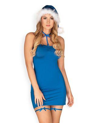 Kissmas 5-delige Lingerie Set - Blauw