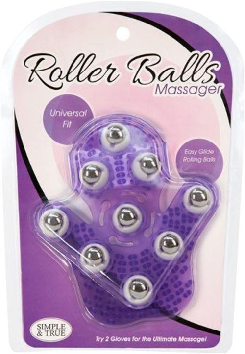 Roller Balls Massage Handschoen - Paars