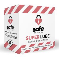 SAFE - Condooms Met Extra Glijmiddel - Superlube - 5 stuks