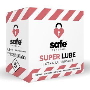 SAFE – Kondome mit Extra-Gleitmittel – Superlube – 5 Stück