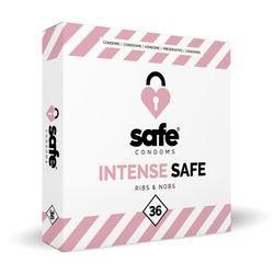SAFE - Condooms - Ribbels & Noppen - 36 stuks