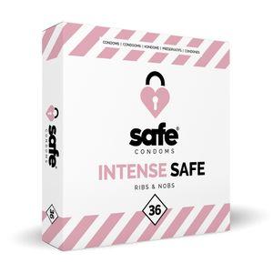 SAFE – Kondome – Gerippt und mit Noppen – 36 Stück