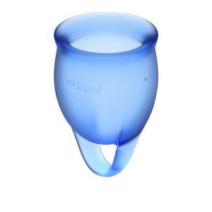 Satisfyer Feel Confident Menstruatiecup Set - Blauw