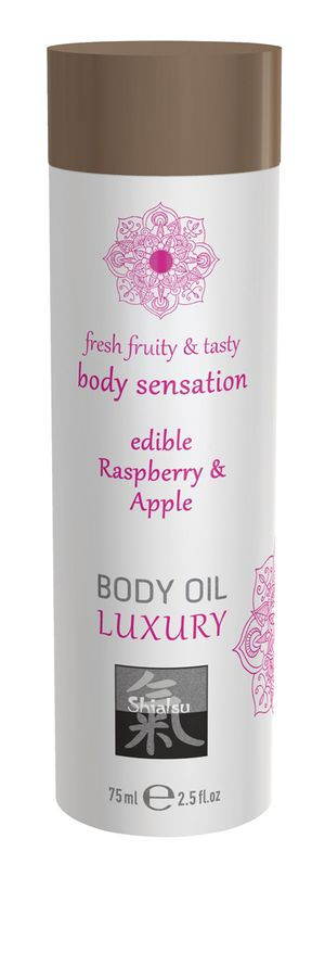 Luxe Eetbare Body Oil - Framboos & Appel