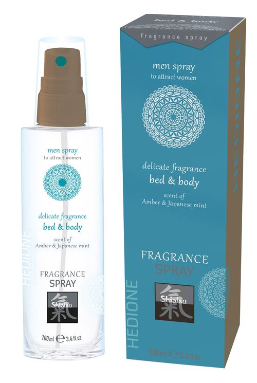 Feromonen Bed & Body Spray Voor Mannen - Amber & Japanse Mint