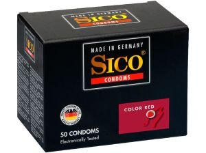 Sico Color Kondome, rot - 50 Condoms