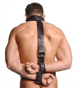 Strict Leather Neck-Wrist Restraint