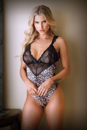Lorena Body mit Spitze - Leopardenmuster