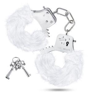 Temptasia - Plüsch-Fell-Handschellen - Weiß