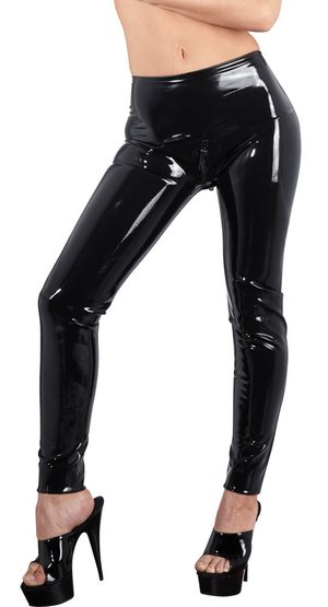 Latex Legging Met Rits