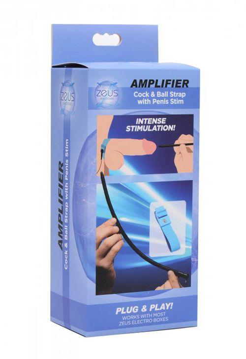 Zeus - Amplifier E-Stim Cock & Ball Strap Met Dilator
