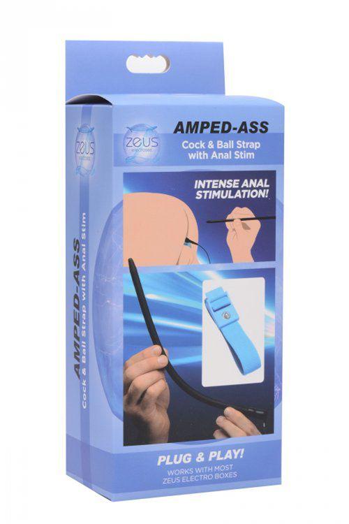Zeus - Amped Ass E-Stim Cock & Ball Strap Met Anaaldildo